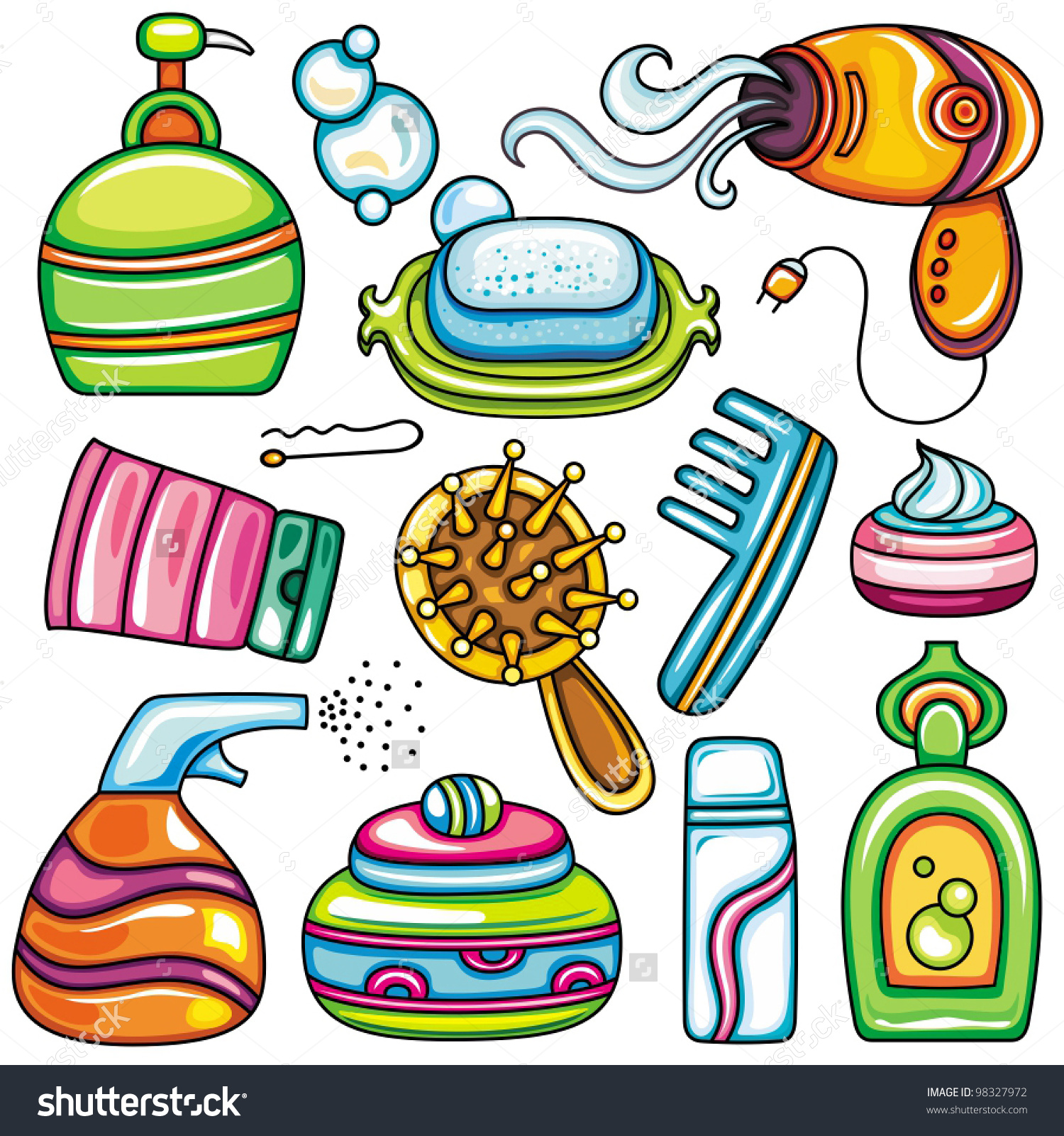 hygiene personal clipart icon vector care bag accessories hair icons body kit series cliparts clipground beauty help