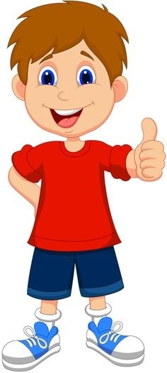 Boy With Calm Body Clipart.