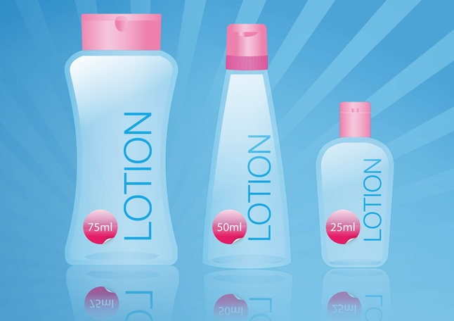 Body Lotion Clipart Graphic.