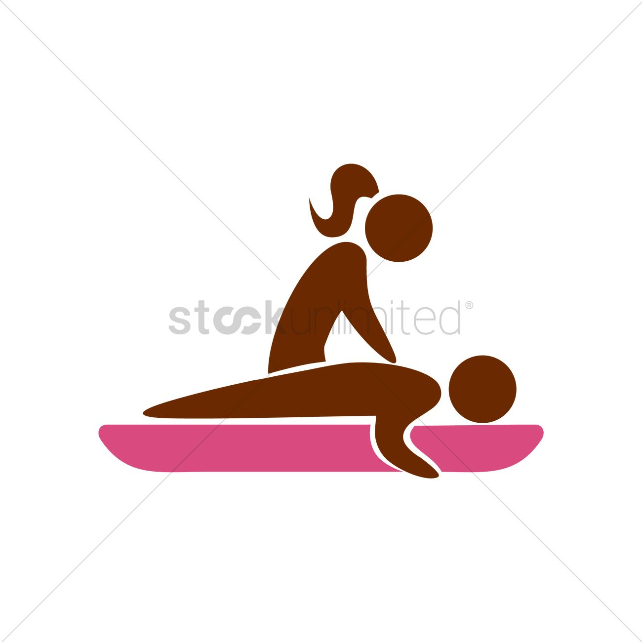 Full Body Massage Clipart.