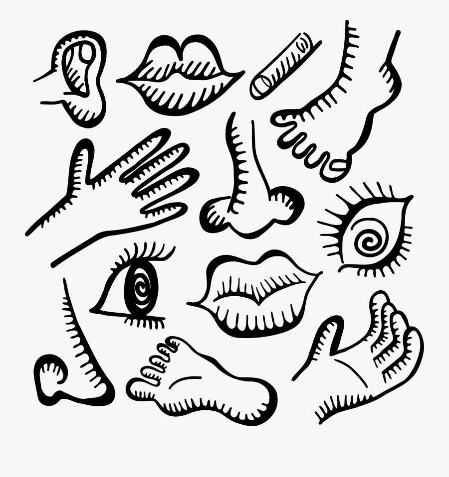 Activities With Body Parts , Free Transparent Clipart.