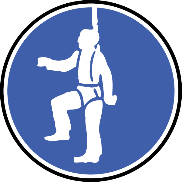 Fall protection clip art.