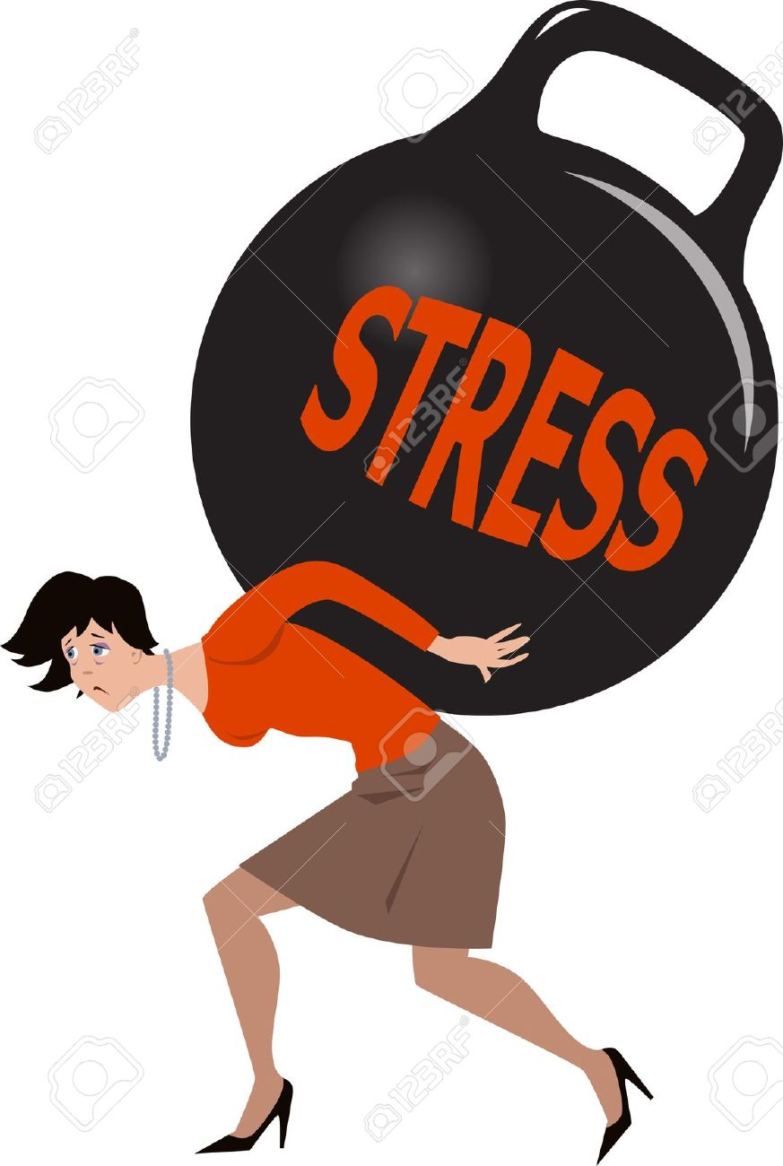Stress Effects On the Body Clip Art.