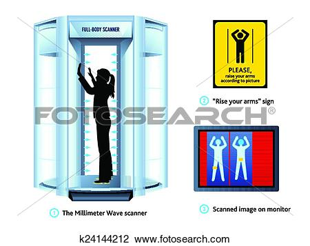 Clipart of Airport body scanner k24144212.