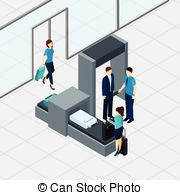 Vector Clip Art of Airport body scanner.