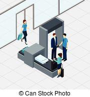 Vector Clip Art of Airport body scanner.