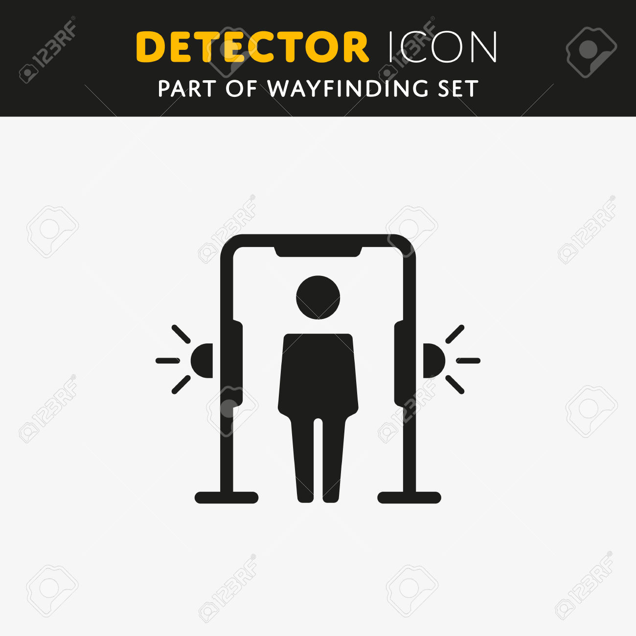 Airport Transport Security. Metal Detector Arch, Full Body Scanner.