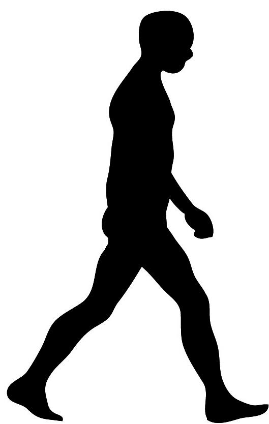 Boy walking shadow clipart.