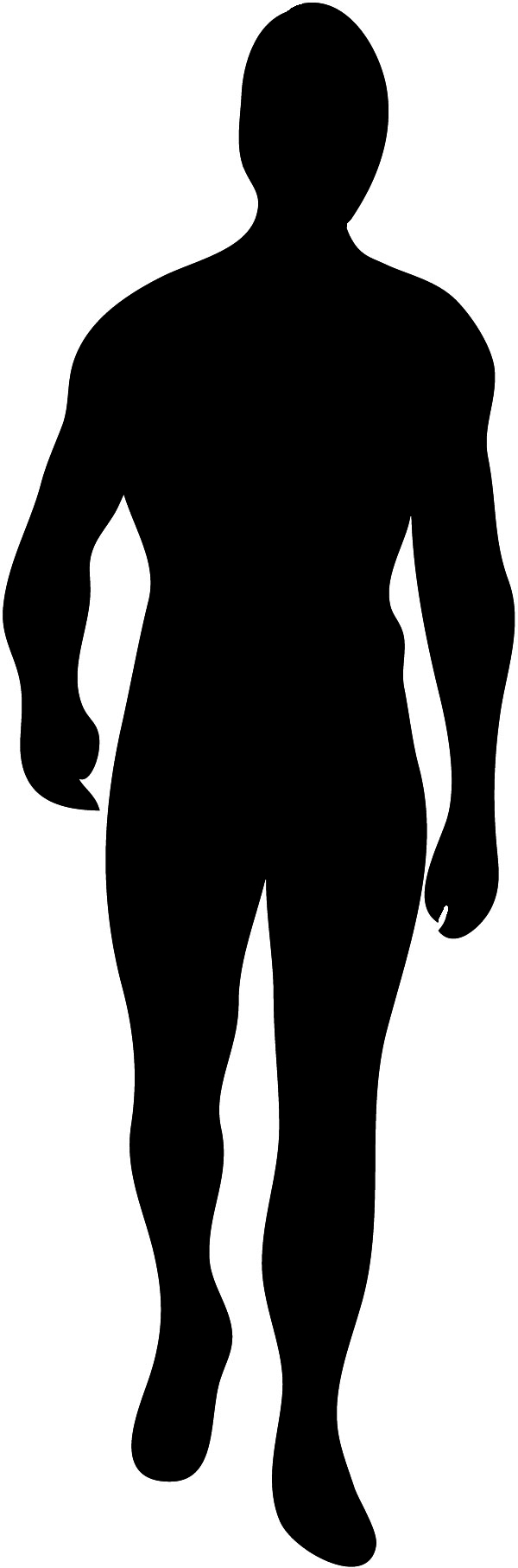 Body silhouette images.