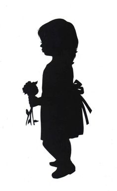 Flower girl baby clipart shadow.