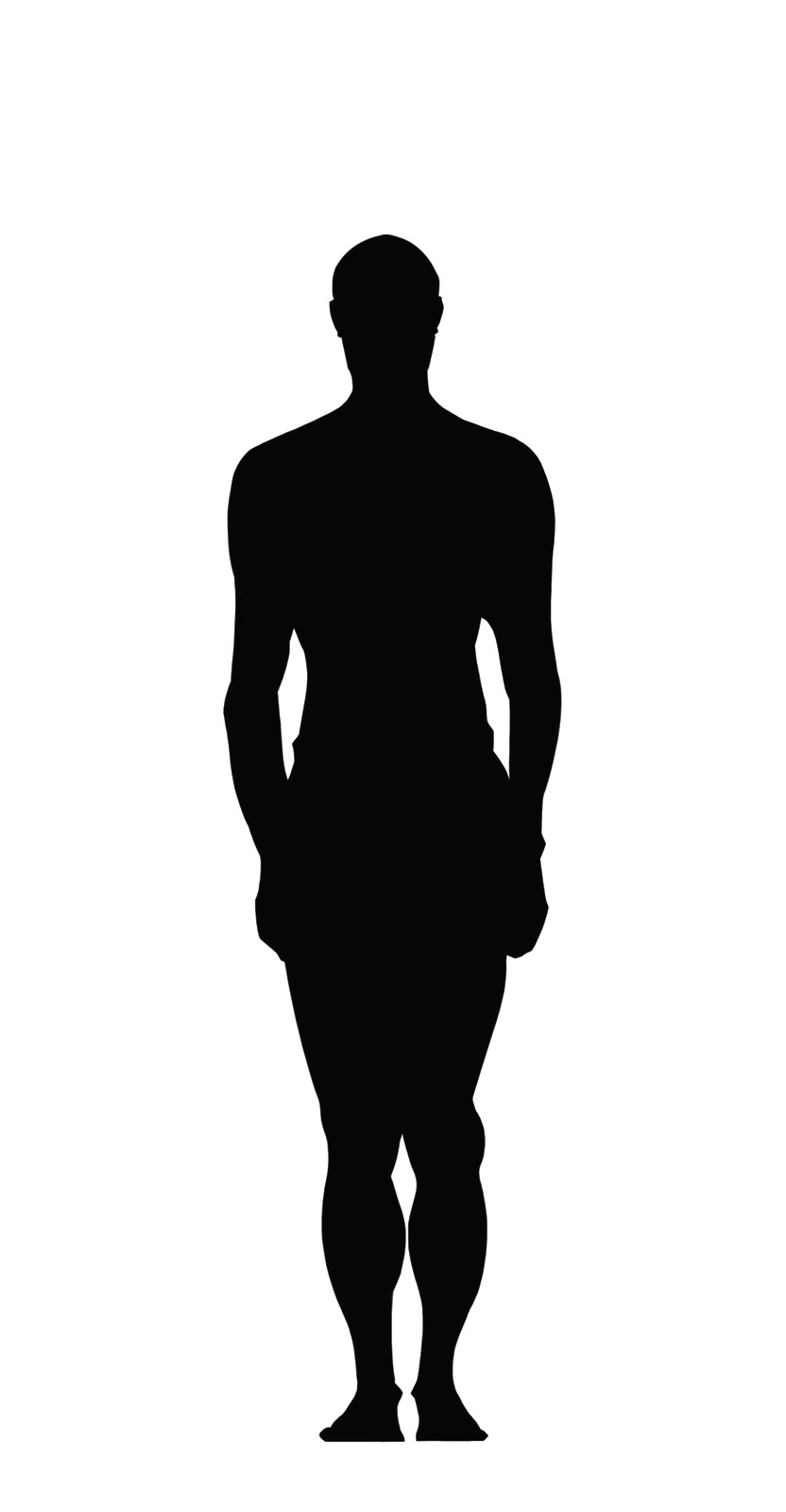 Human Body Silhouette Clipart.
