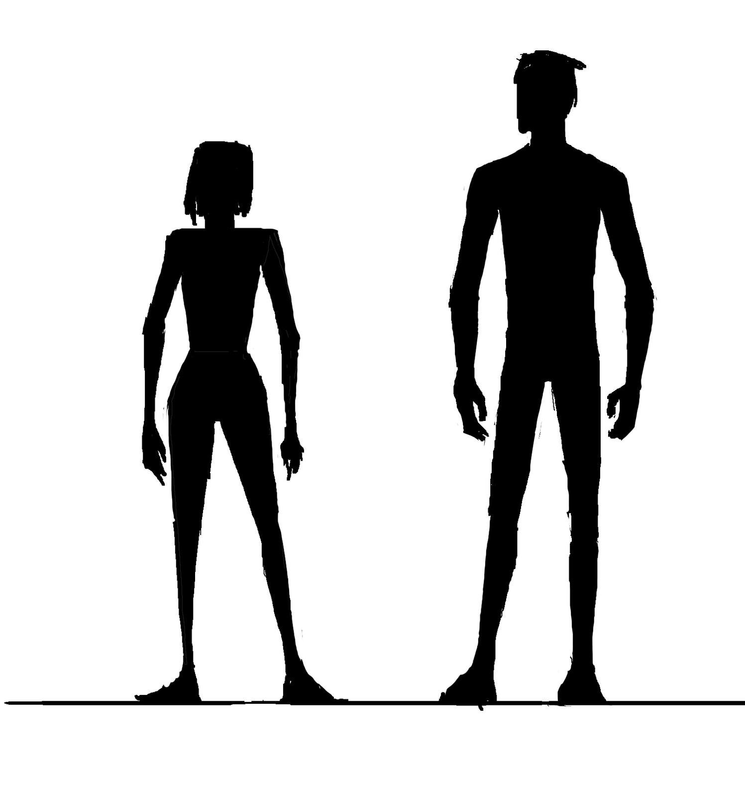 Female body shape Silhouette Human body Clip art.