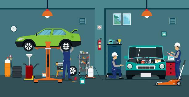 Best Auto Body Repair Shop Illustrations, Royalty.