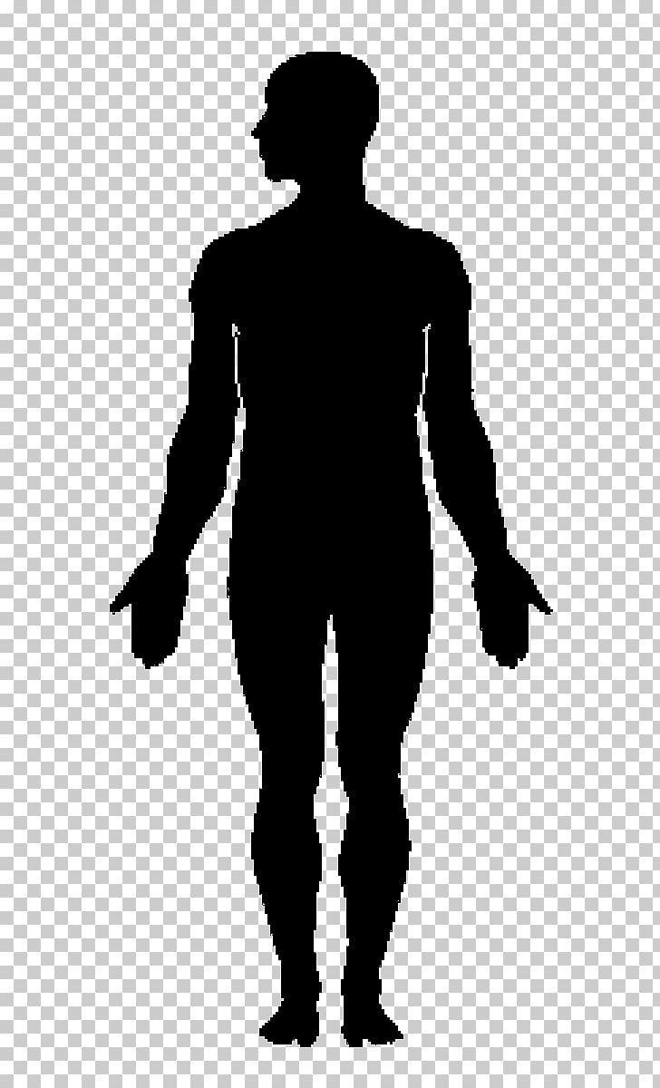 Human body Silhouette , Silhouette PNG clipart.