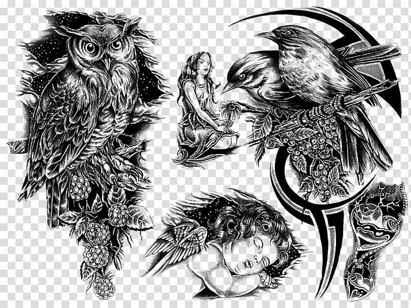 Sleeve tattoo Flash Body art, arm tattoo transparent.
