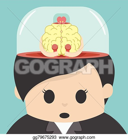 Brain Controls Body Clipart.