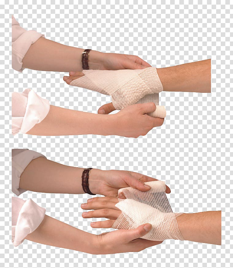 Thumb Wound Bandage, wrap the wound transparent background.