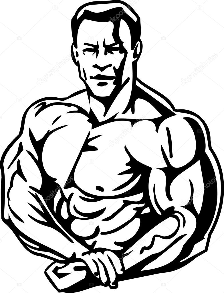 Bodybuilder clipart 2 » Clipart Station.