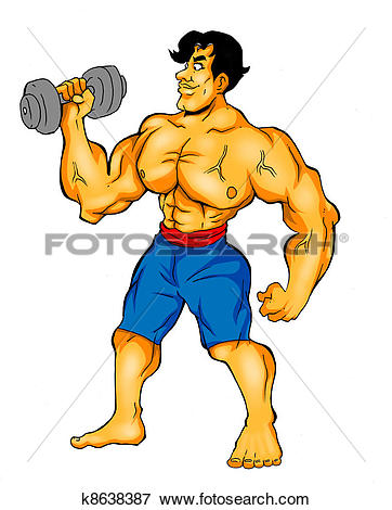 Stock Illustration of Body Builder k8638387.