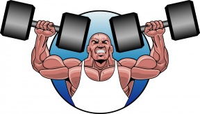 Bodybuilder Cartoon Clipart.