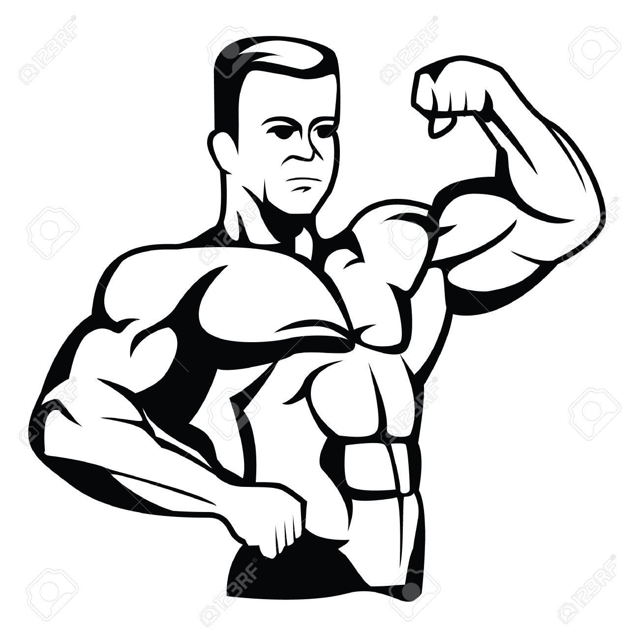 Body Builder Royalty Free Cliparts, Vectors, And Stock.