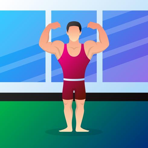 Muscular Bodybuilders Cartoon Characters.