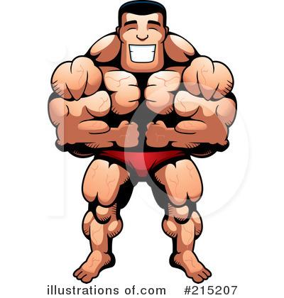 Bodybuilder Clipart #215207.