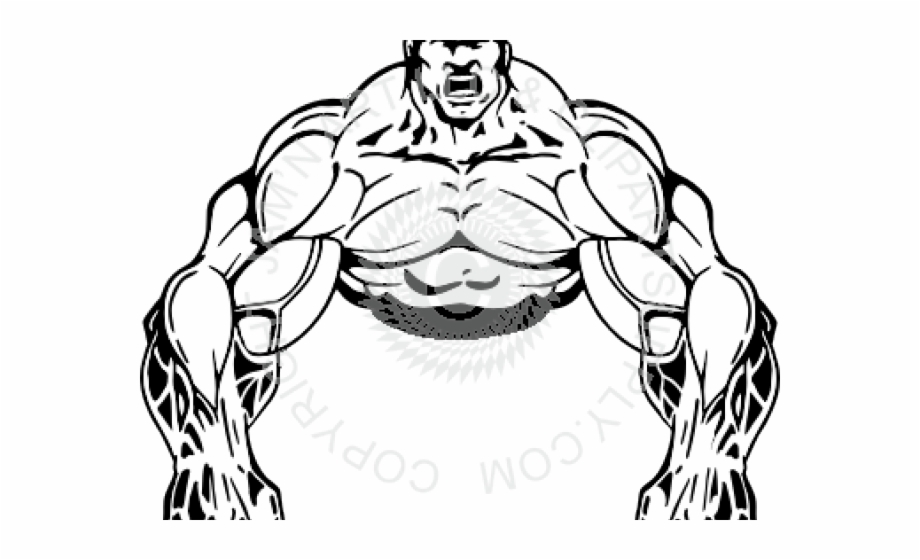 Bodybuilding Clipart Muscle Man.