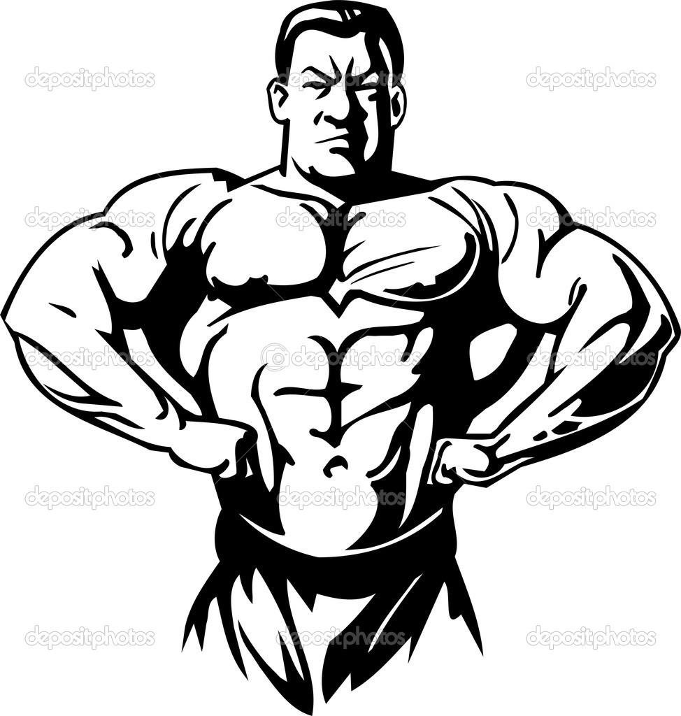 Bodybuilder Clipart.