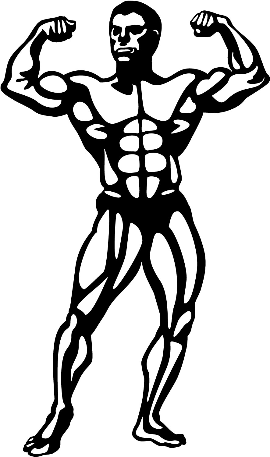Body Builder Clipart.