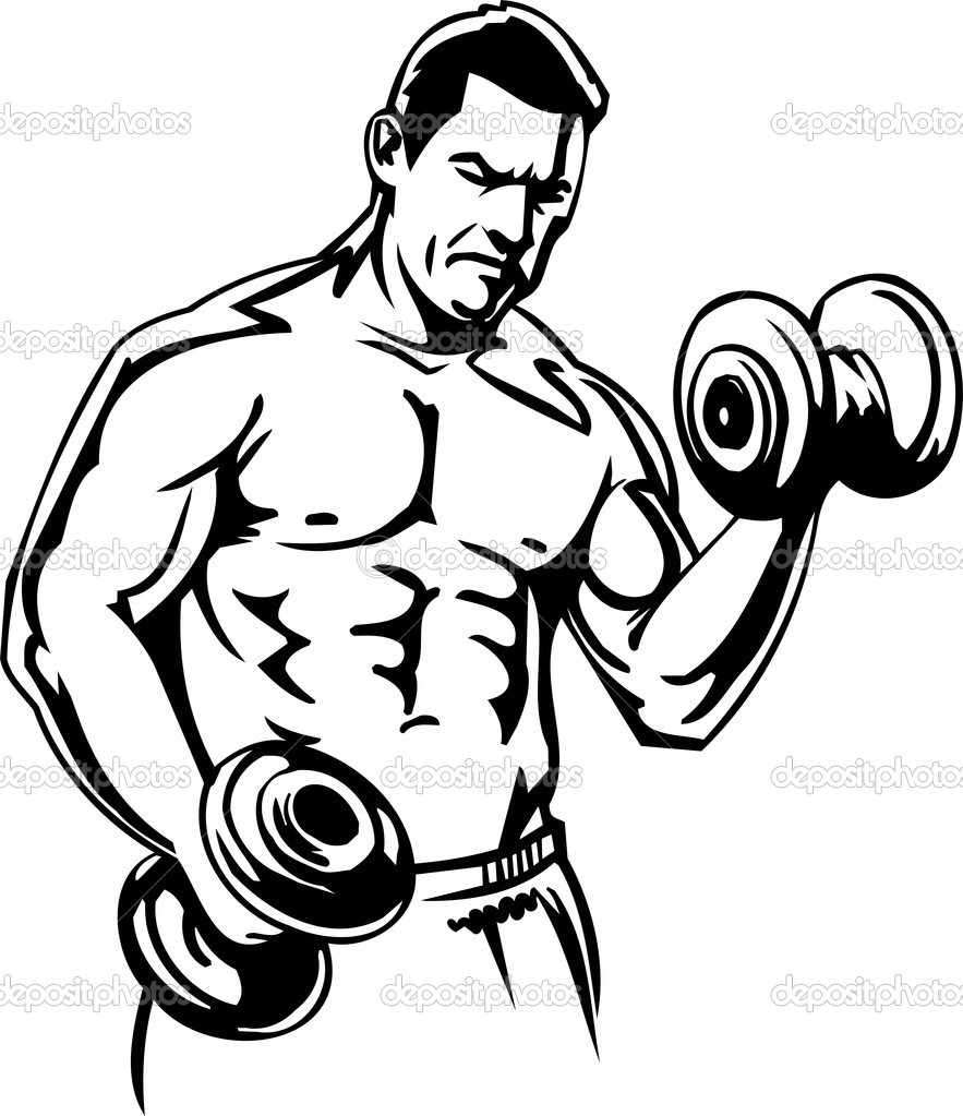 gym weights coloring pages - photo#24
