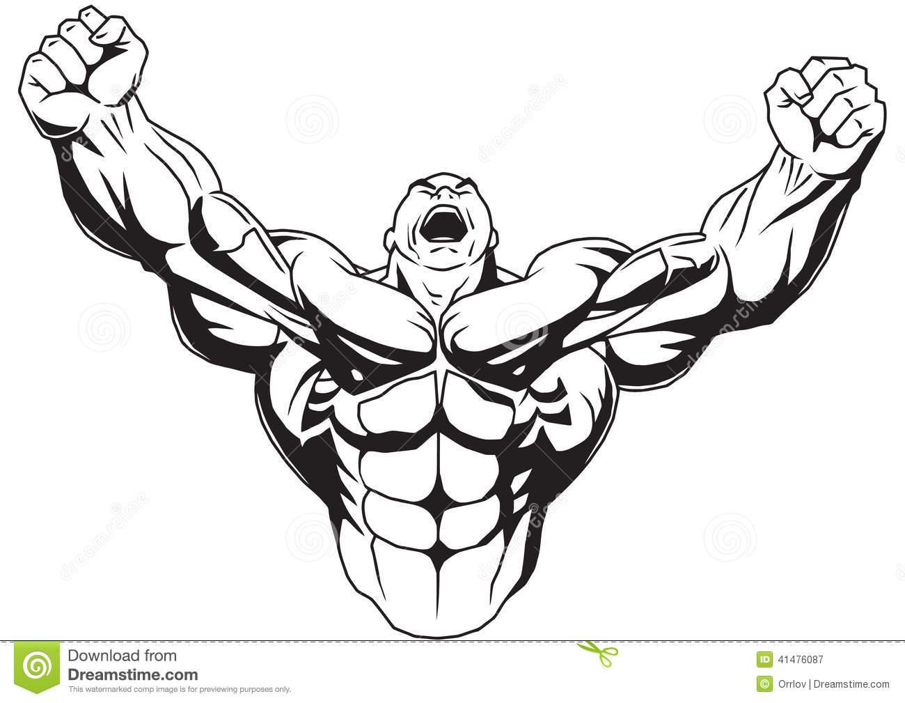 Bodybuilder Stock Illustrations.