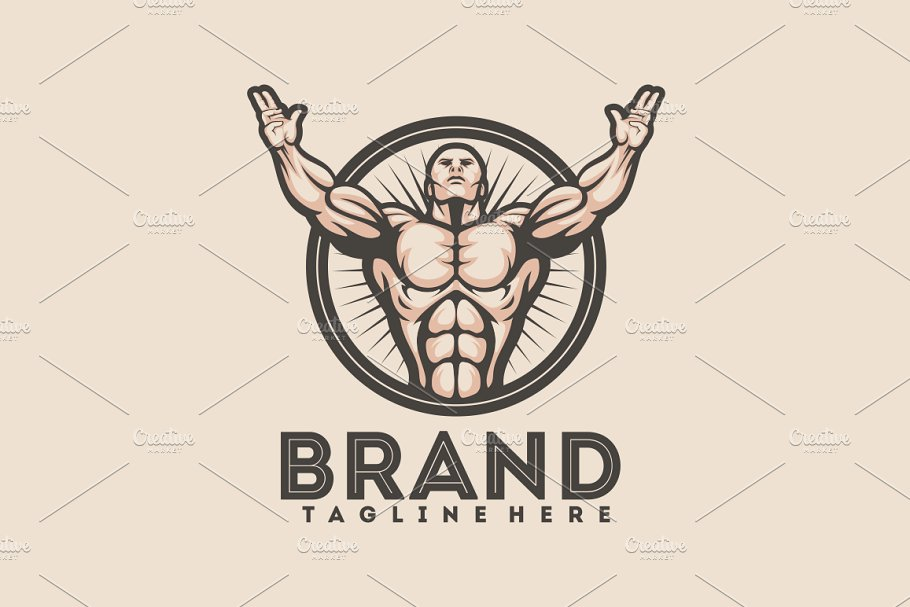Bodybuilder Logo.