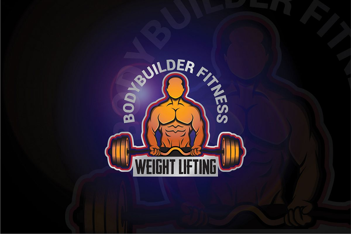 bodybuilder logo.