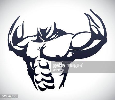 bodybuilding design Clipart Image.
