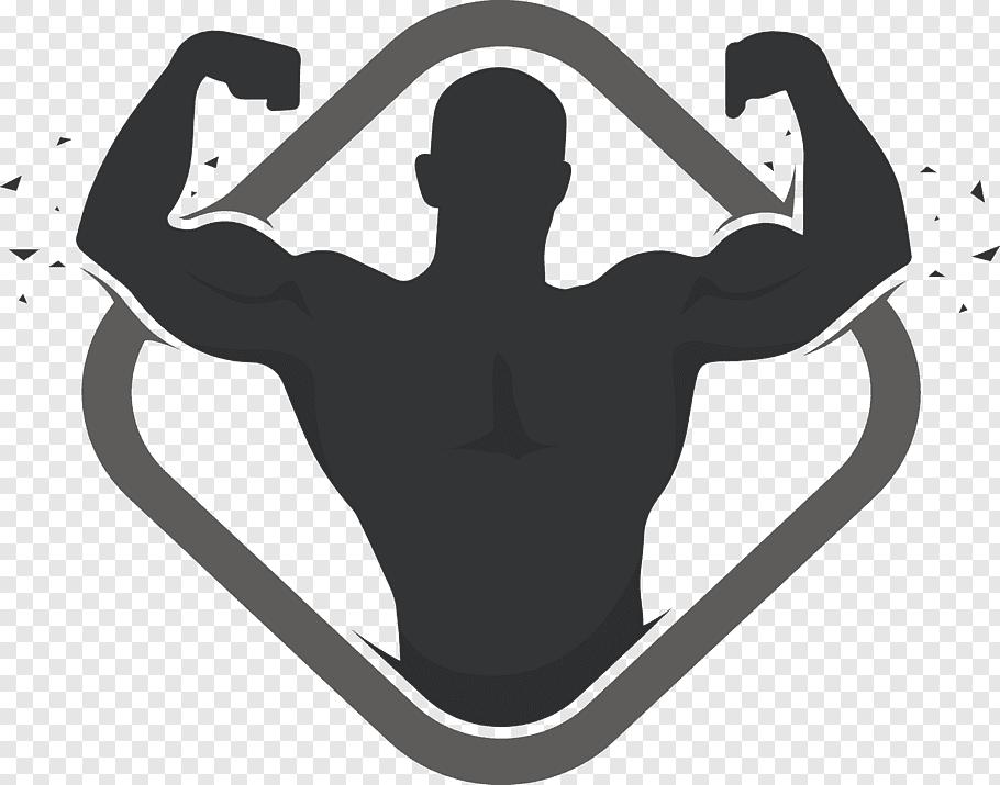 Muscle figure illustration, Logo Bodybuilding Physical.
