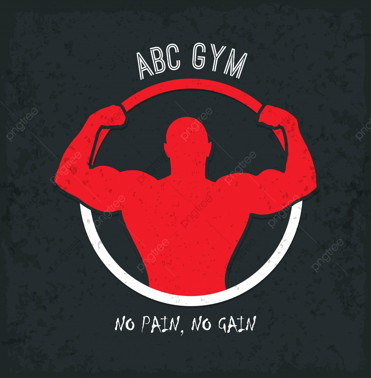 Gym Logo With Color Bodybuilder Design, Active, Activity, Athlete.