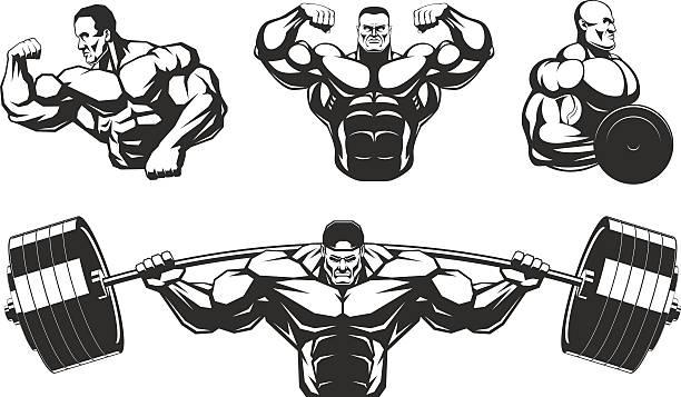 Best Body Building Illustrations, Royalty.