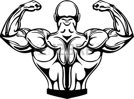 muscle cartoon: Bodybuilding and Powerlifting.