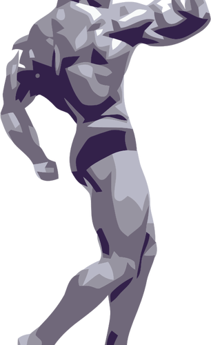 Vector clip art of a bodybuilder.