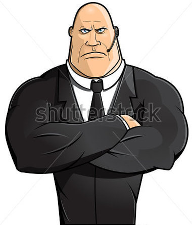 Body guard clipart.