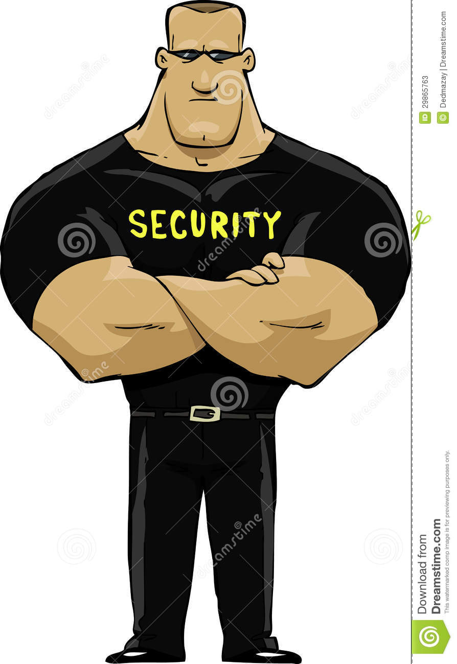 Bodyguard Protecting Clipart.