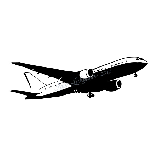 Boeing airplane clipart.