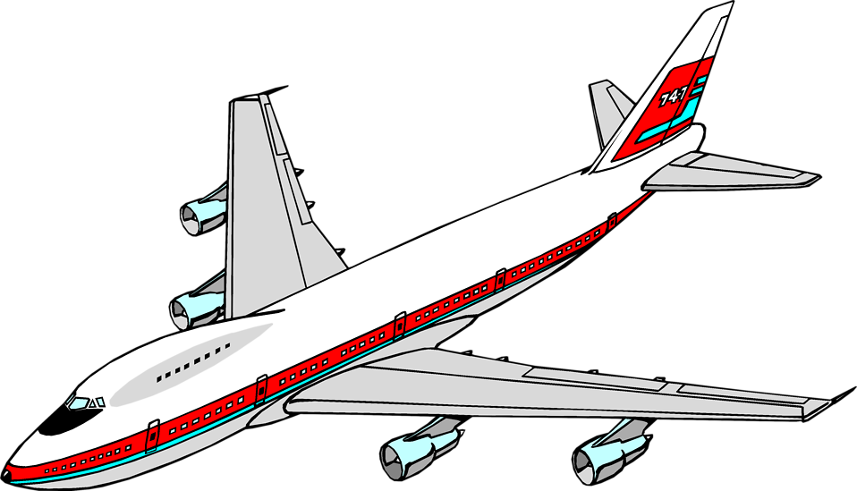 Airplane Aircraft Boeing 747 Clip art.