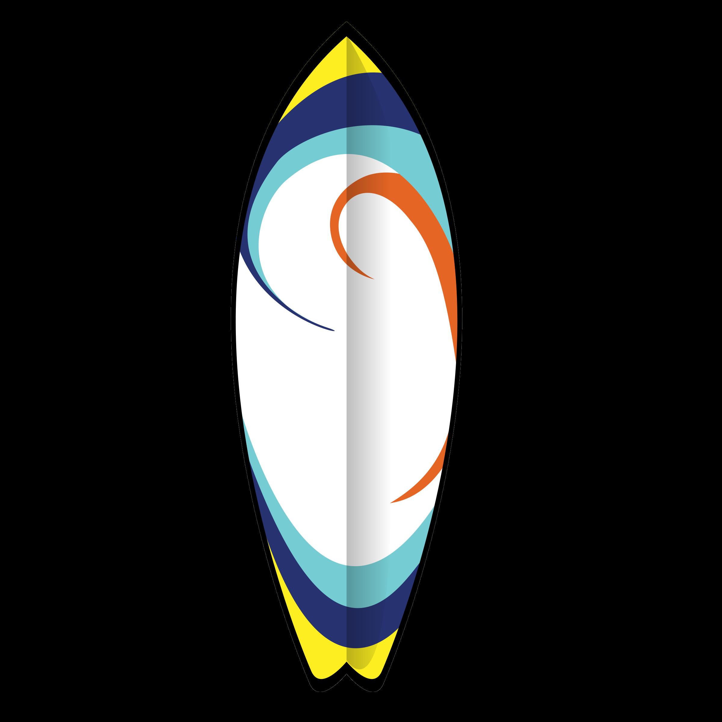 Clip art surf board.