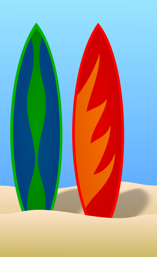 Surf Boards Clipart.