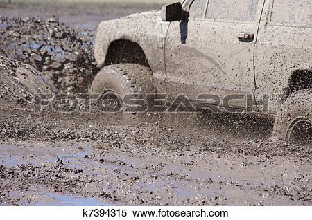 Stock Image of Mud Bogging k7394315.