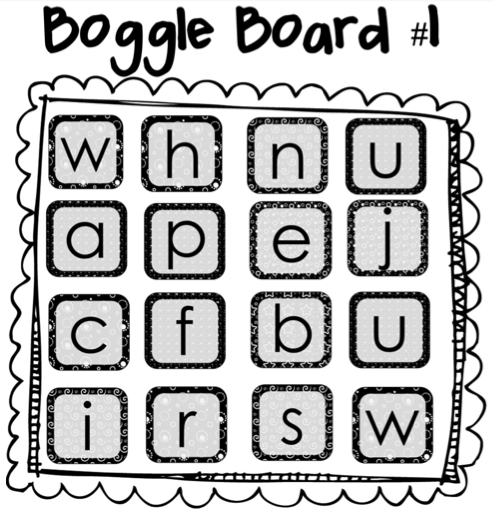 Boggle clipart.