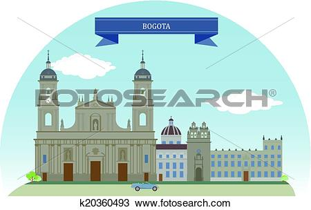 Clipart of Bogota, Colombia k20360493.