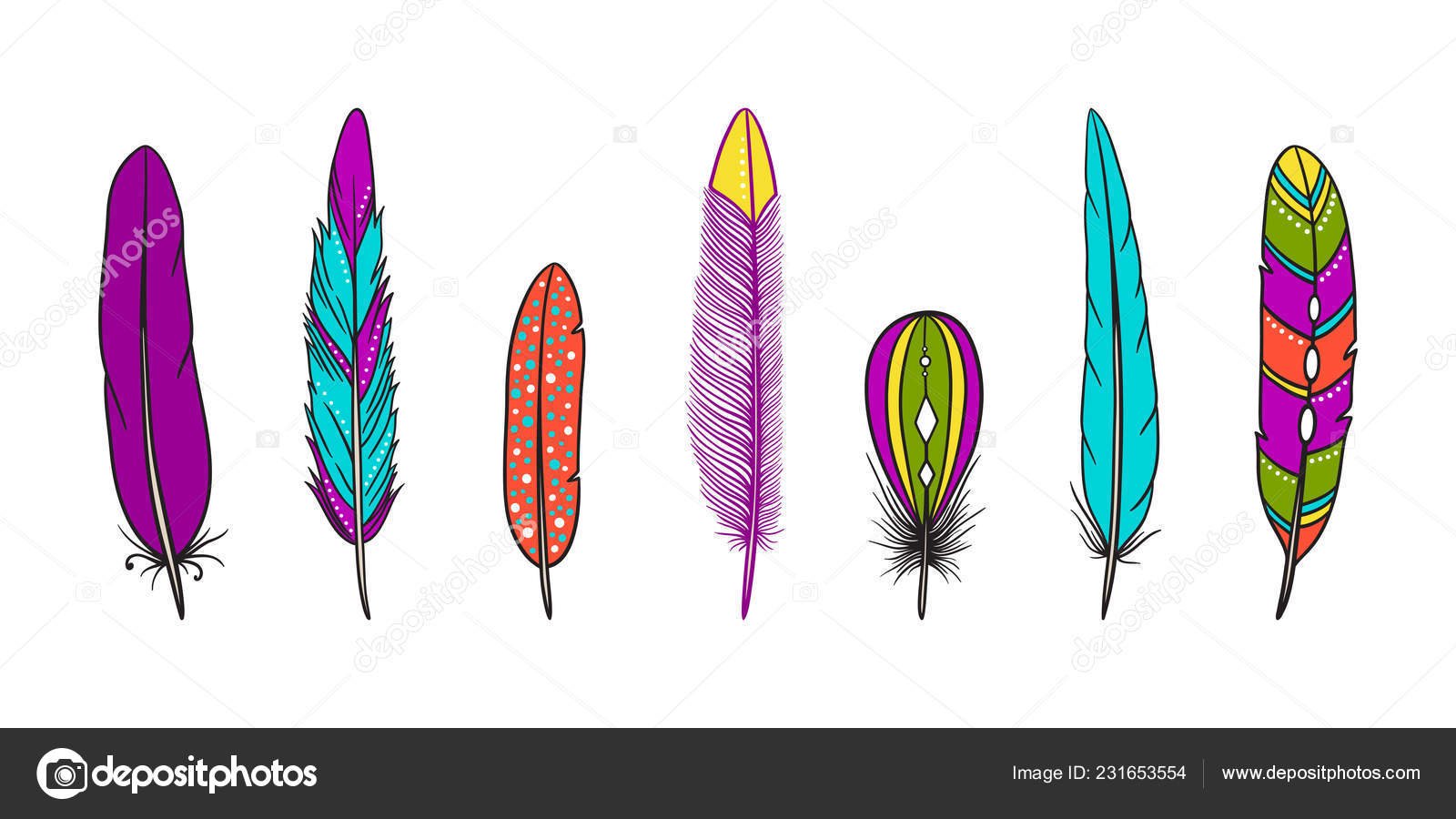 Clipart: feathers.